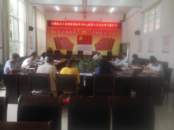 大姚县总工会召开党组理论学习中心组第六次民法典专题学习