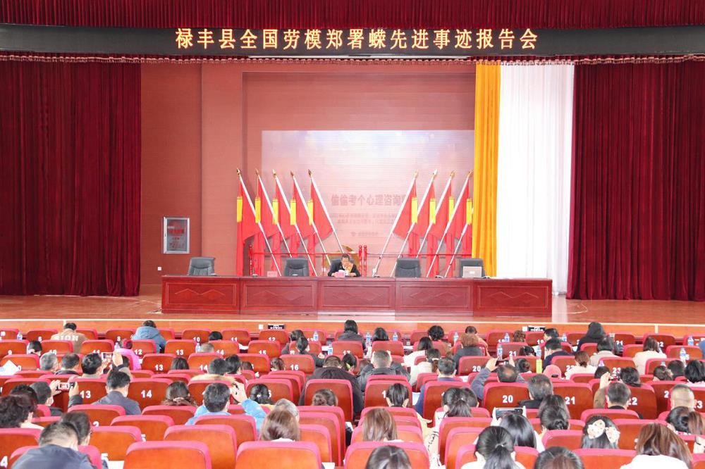 禄丰县总工会举办全国劳动模范郑署蝾 同志先进事迹报告会
